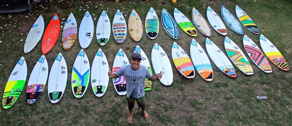diego santos aircraft surfboards quiver 2014