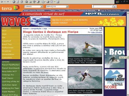 Matéria Diego Santos, WQS 2006 a bordo de uma Marcos Mota - Aircraft